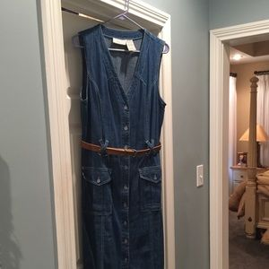 Denim Front Button Faded Glory Dress Size 12-14